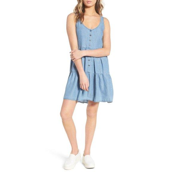 Rails Nora Medium Vintage Button Chambray Dress